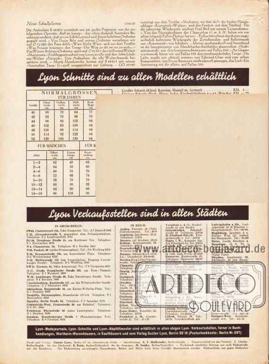 Lose beiliegende Postkarte (Maße: 14,5 x 9,2 cm / 5,71 x 3,62 in) zum Bestellen von Schnittmustern mit unbedruckter Rückseite.