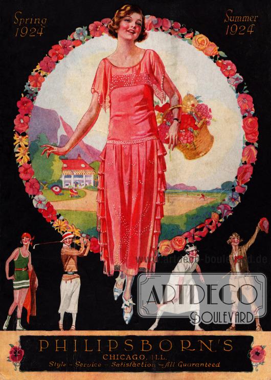 Titelseite bzw. Cover des Frühjahr/Sommer Versandhauskatalogs der Firma Philipsborn's aus Chicago, Illinois, USA von 1924.