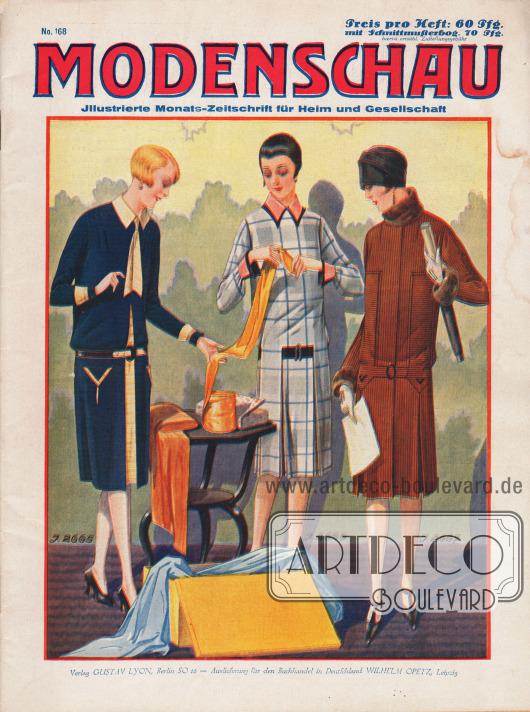 Titelseite der deutschen Illustrierten Modenschau Nr. 168 von Dezember 1926.