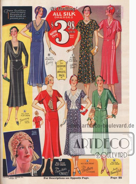 Seidenkleider zu deutlich günstigeren Preisen als in den Jahren zuvor.