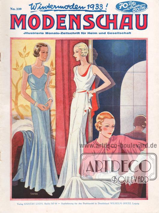 Titelseite der deutschen Illustrierten Modenschau Nr. 239 vom November 1932.