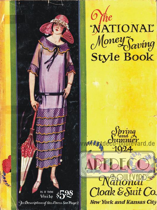 Cover des Frühjahr/Sommer Versandhauskatalogs der Firma National Cloak & Suit Company von 1924.