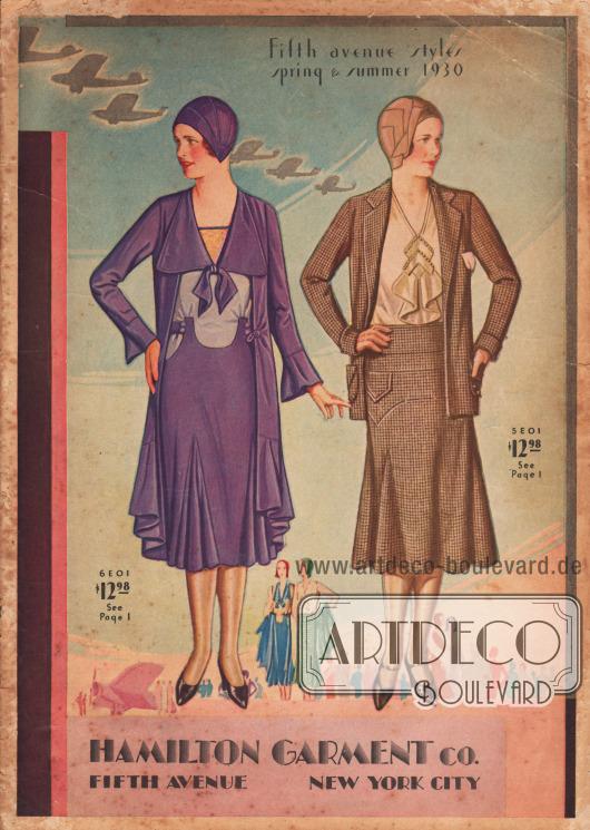 Cover des Frühjahr/Sommer Katalogs der Firma Hamilton Garment von 1930.
