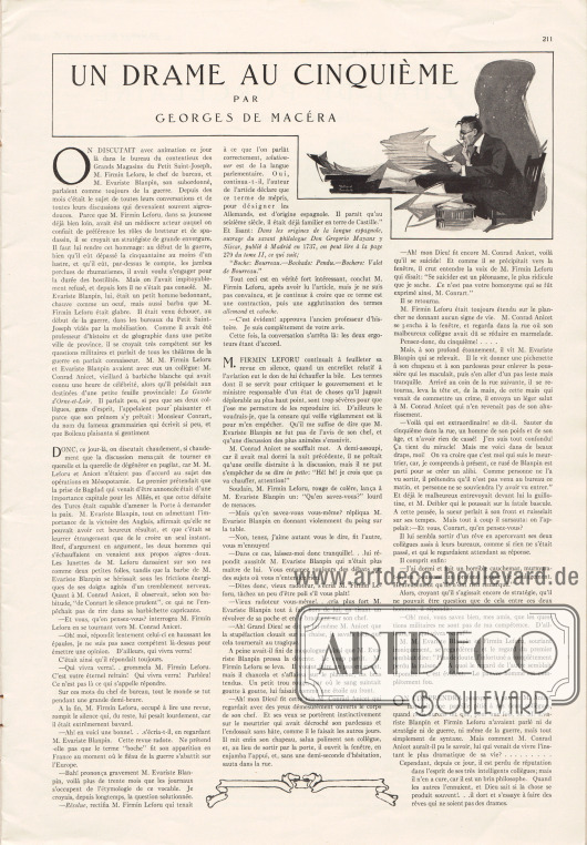 Artikel:Macéra, Georges de, Un drame au cinquième.Illustration: [Charles] Willard Fairchild, 1883-1946.