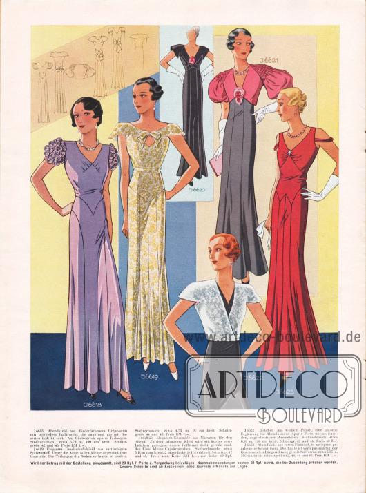 Abendkleider und Gesellschaftskleider die mit passenden Jäckchen kombiniert werden können.