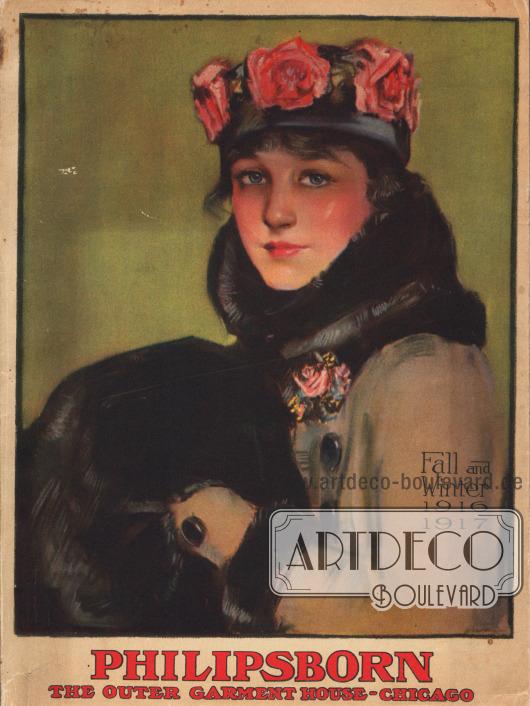 Titelseite bzw. Cover des Herbst/Winter Versandhauskatalogs der Firma Philipsborn aus Chicago, Illinois, USA von 1916-17.