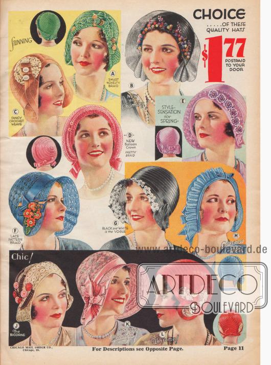 Die immer kleiner werdenden Hüte tragen zum neuen femininen Sommerschick bei.