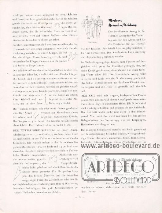 """Artikel von Bruno Henschke, dem damaligen Generaldirektor: """"Modisches für Frühjahr und Sommer 1931. Den Hänsel-Freunden für ihre Praxis""""."""