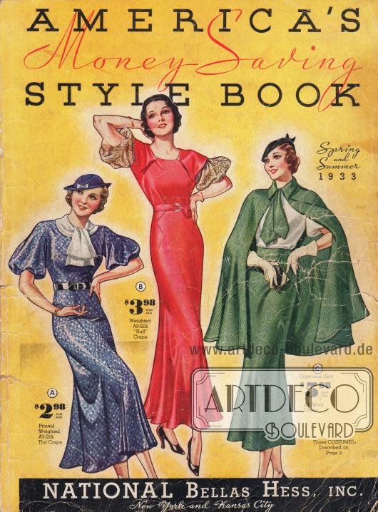 Cover des Frühjahr/Sommer Katalogs der Firma National Bellas Hess Inc. von 1933.
