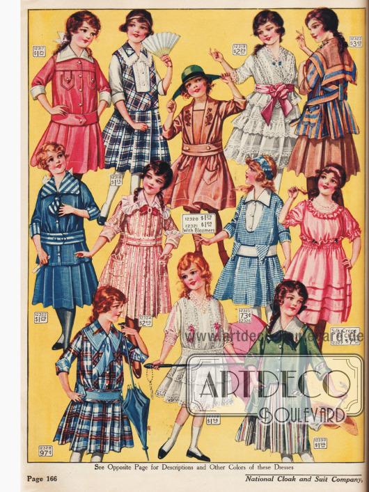 Kleidchen für Mädchen zwischen 6 bis 14 Jahren.