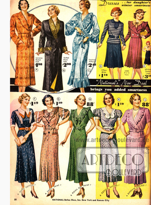 Haushaltskleider, Morgenröcke und Kleidchen für Mädchen zu günstigen Preisen.