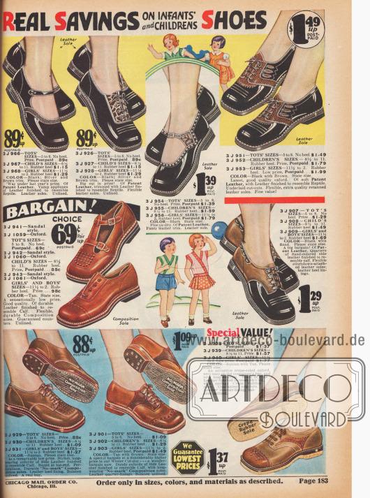 Schuhe für kleine und größere Kinder.