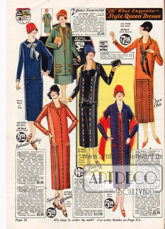 Einfache Kleider für Damen und junge Frauen.