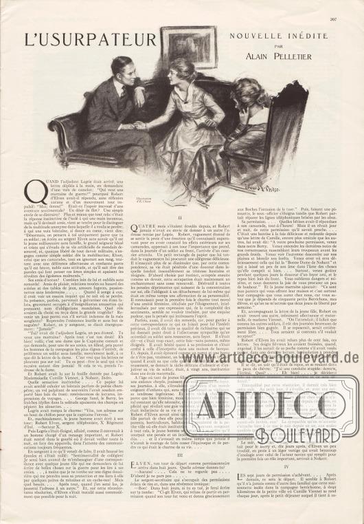 Artikel:Pelletier, Alain, L'Usurpateur (nouvelle inédite).Illustration: d'E. Chase.