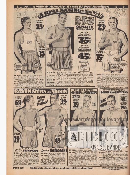 Sportliche Herrenunterwäsche.