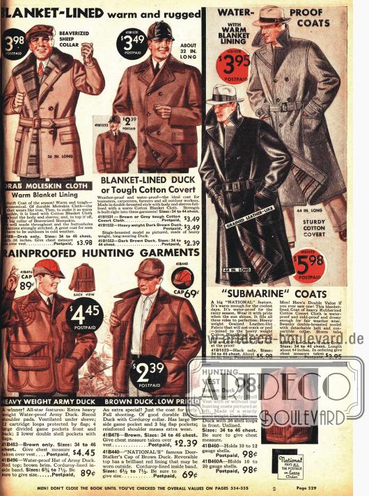 Regenmäntel und Jacken für die Jagd.