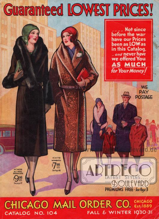 Cover des Herbst/Winter Versandhauskatalogs der Firma Chicago Mail Order Co. von 1930.