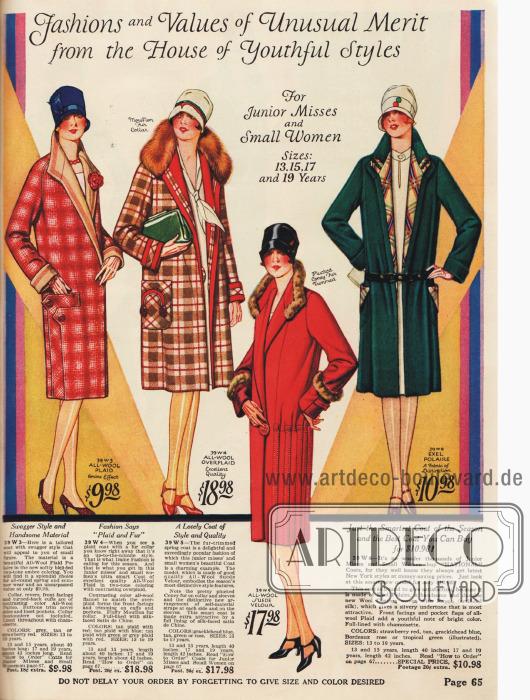 Jugendliche Mode für heranwachsende Damen bis 19 Jahre und Damen von knapper Statur.
