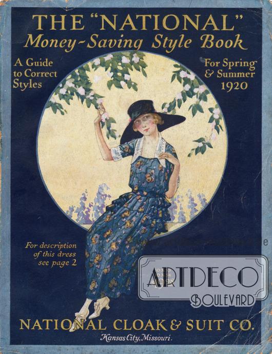 Cover des Frühjahr/Sommer Versandhauskatalogs der Firma National Cloak & Suit Company von 1920.