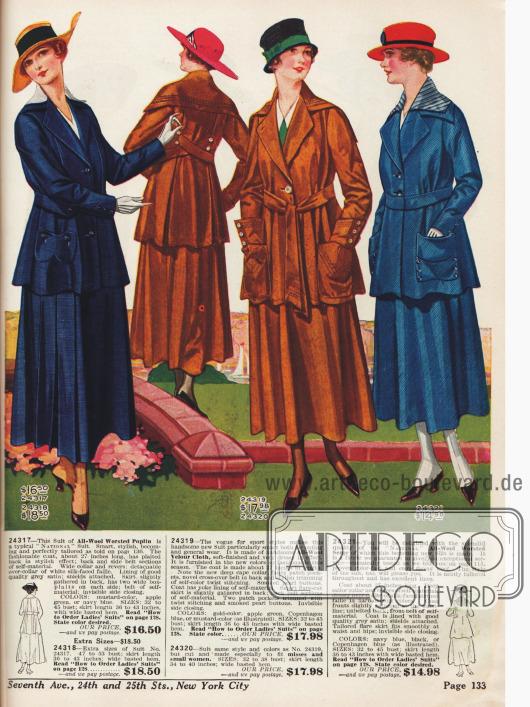 Kostüme, die auch für sportliche Aktivitäten geeignet sind.