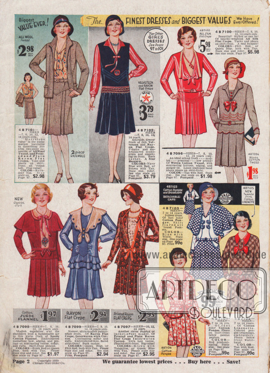 Kleider für Mädchen bis 14 Jahre im Stile der Großen.