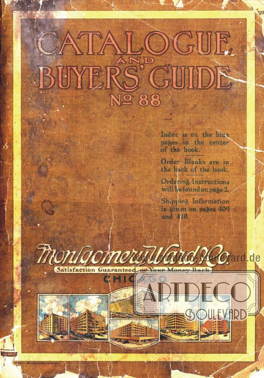 Cover des Frühjahr/Sommer Versandhauskatalogs der Firma Montgomery Ward & Co. von 1918.