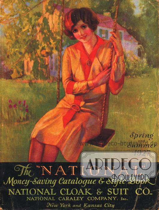 Cover des Frühjahr/Sommer Versandhauskatalogs der Firma National Cloak & Suit Company von 1927.