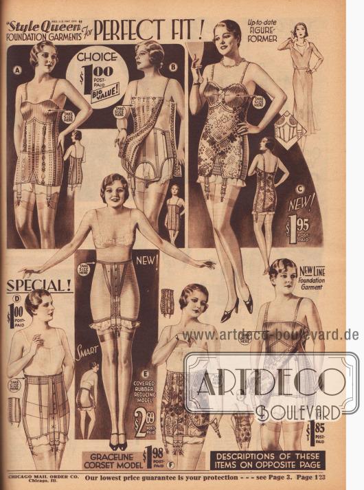 Korsetts und Hüfthalter geben jeder Figur die richtige Form - denn eine schöne Figur beginnt 1931 schon mit der Unterwäsche.