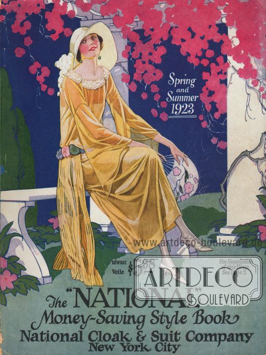Titelseite bzw. Cover des Frühjahr/Sommer Versandhauskatalogs der Firma National Cloak & Suit Company aus New York City, New York, USA von 1923.