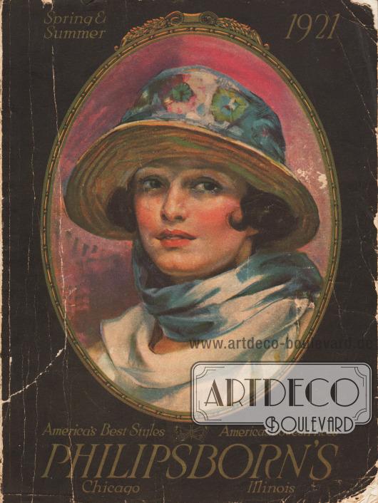 Titelseite bzw. Cover des Frühjahr/Sommer Versandhauskatalogs der Firma Philipsborns aus Chicago, Illinois, USA von 1921.