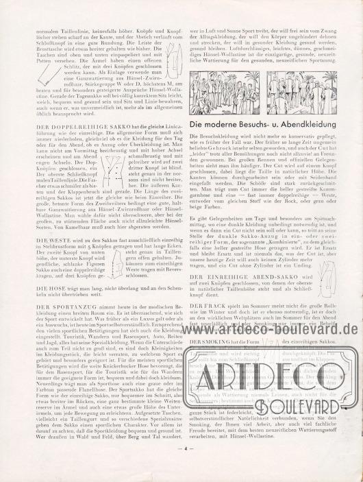 Artikel:Henschke, Bruno (Geschäftsführer), Winke für die Frühjahrs- und Sommermode 1932. Den Hänsel-Freunden für ihre Praxis.