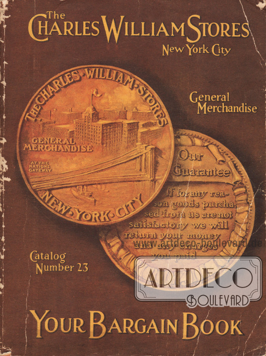 Cover des Frühjahr/Sommer Versandhauskatalogs der Firma Charles William Stores Inc. aus New York City, New York, von 1919.