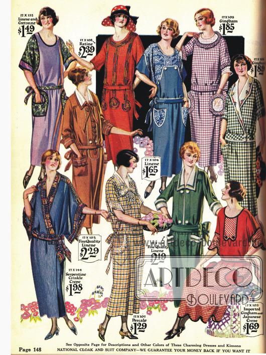 Kimonos und Haushaltskleider zu sehr günstigen Preisen.