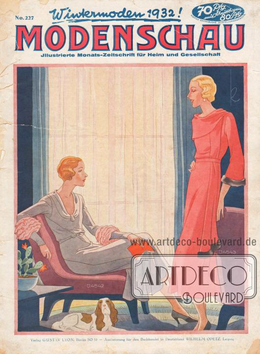 Titelseite der deutschen Illustrierten Modenschau Nr. 227 vom November 1931.Titelzeichnung: Kretschmann.