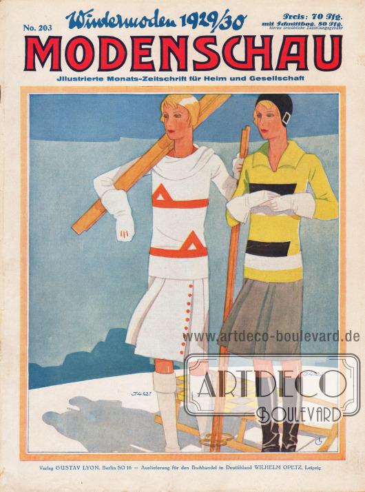 Titelseite der deutschen Illustrierten Modenschau Nr. 203 vom November 1929.
