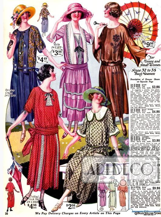 Kleider für junge Damen und klein gewachsene Frauen.