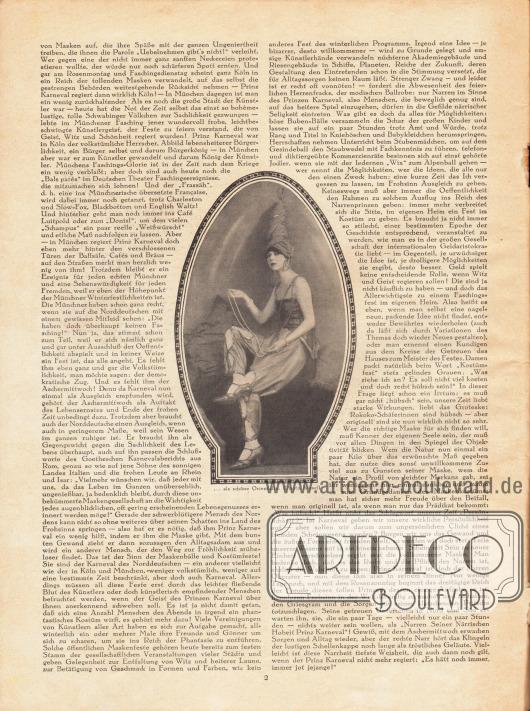 """Artikel:Wedekind, Anna P., Prinz Karneval regiert!Mit dem Bild einer """"schöne[n] Orientalin"""", Foto: Kiesel."""