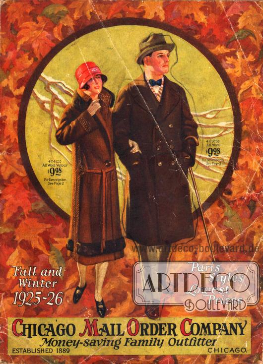 Titelseite bzw. Cover des Herbst/Winter Versandhauskatalogs Nr. 84 der Firma Chicago Mail Order Company aus Chicago, Illinois, USA von 1925.
