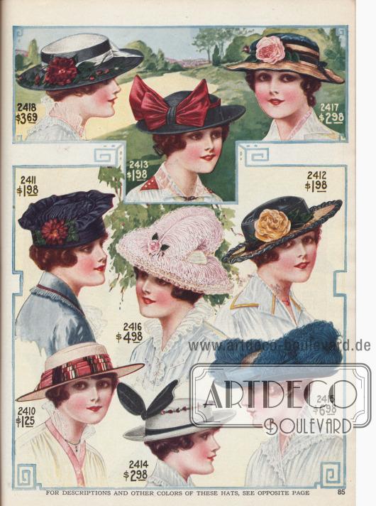 Kleidsame Damenhüte.